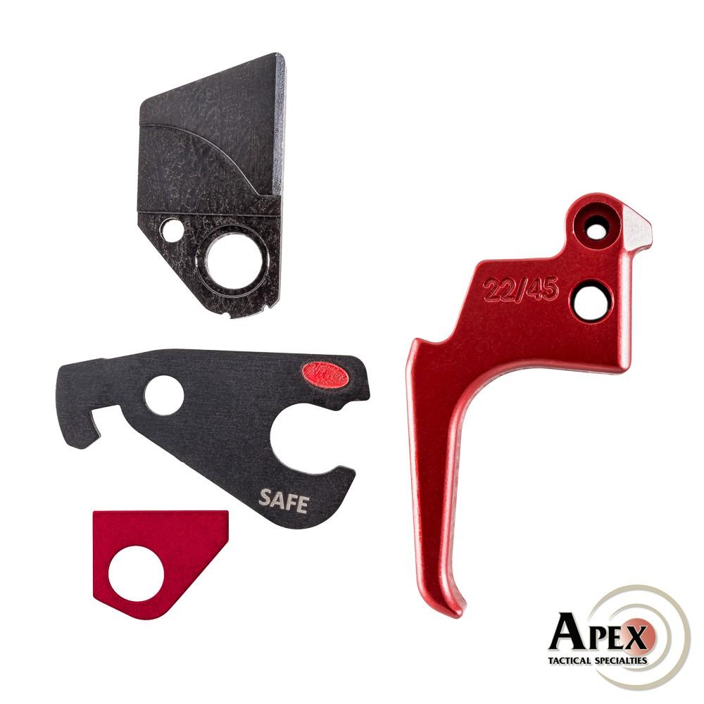 Apex Action Enhancement Kit for Ruger Mk IV 22/45 - RED