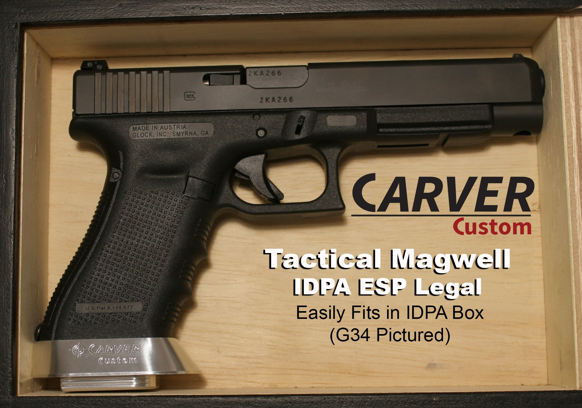 """CARVER """"Tactical"""" ESP Magwell for Glock G19/23"""