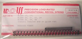 """Wolff  4.25"""" and 5.0"""" Model M&P Recoil Springs"""