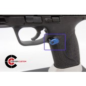 """SP M&P Extended """"Paddle"""" Mag Release-Blue"""