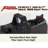 Dawson Blk Fixed Co-Witness Sight Set - for Glock