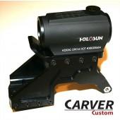 CARVER Hunter Holosun/T-2  Mount For Glock