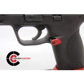 """SP M&P Extended """"Paddle"""" Mag Release-Red"""