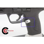 """SP M&P Extended """"Paddle"""" Mag Release-Silver"""